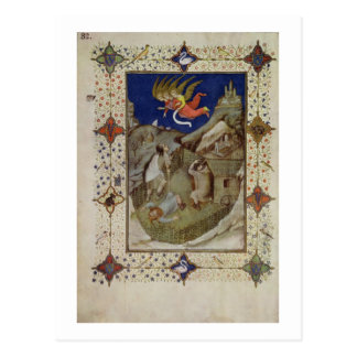MS 11060-11061 Hours of Notre Dame: Tierce, The an Postcard