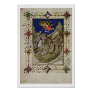 MS 11060-11061 Hours of Notre Dame: Tierce, The an Poster