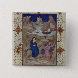 MS 11060-11061 Hours of Notre Dame: Vespers, The F Pinback Button