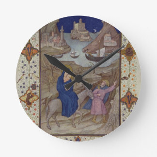 MS 11060-11061 Hours of Notre Dame: Vespers, The F Round Clock
