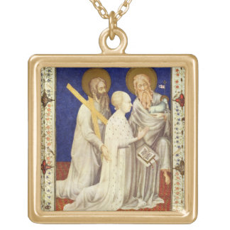 MS 11060-11061 John, Duc de Berry on his knees bet Gold Plated Necklace