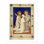 MS 11060-11061 John, Duc de Berry on his knees bet Postcard
