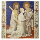 Ms 11060-11061 Juan, Duc de Berry en su apuesta de Azulejo Cuadrado Grande