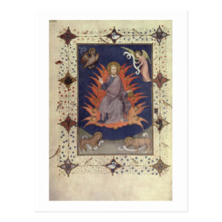 MS 11060-11061 Psalms of Penitence: Christ in Maje Postcard
