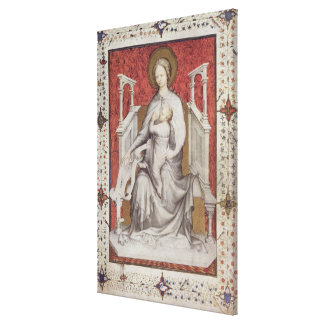 MS 11060-11061 The Virgin suckling the infant Jesu Canvas Print
