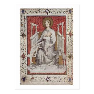 MS 11060-11061 The Virgin suckling the infant Jesu Postcard