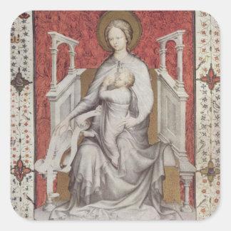MS 11060-11061 The Virgin suckling the infant Jesu Square Sticker