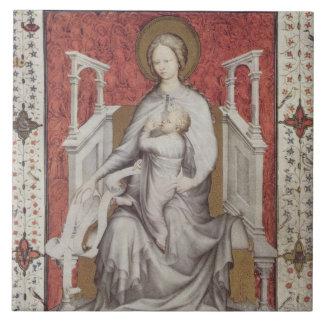 MS 11060-11061 The Virgin suckling the infant Jesu Tile