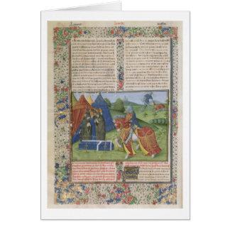Ms 115 f.425v Lancelot Killing Sir Agravain (vellu Card