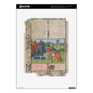 Ms 115 f.425v Lancelot Killing Sir Agravain (vellu iPad 3 Decal