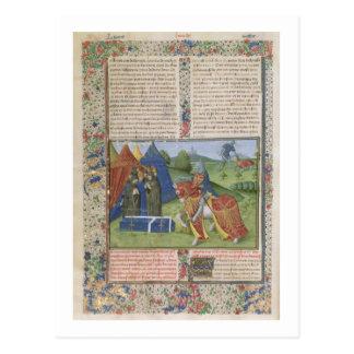 Ms 115 f.425v Lancelot Killing Sir Agravain (vellu Postcard