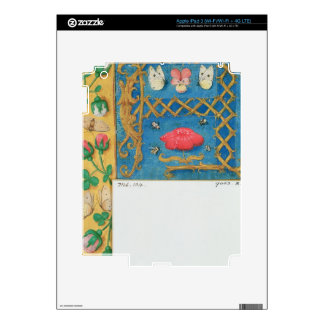 Ms 134 Illuminated letter `A' and side border of f Decal For iPad 3