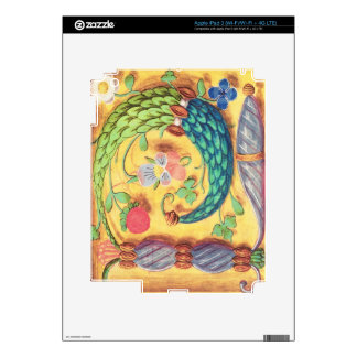 Ms 134 Illuminated letter `P' decorated with flowe iPad 3 Decal