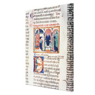 Ms 150 f.61v A Judgement, from the 'Decrets de St. Canvas Print