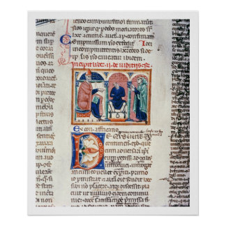 Ms 150 f.61v A Judgement, from the 'Decrets de St. Poster