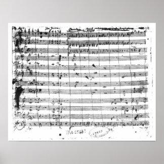 Ms.1548 Ouverture de la ópera 'Don Giovanni Posters