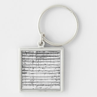 Ms.1548  Ouverture of the opera 'Don Giovanni' Keychain