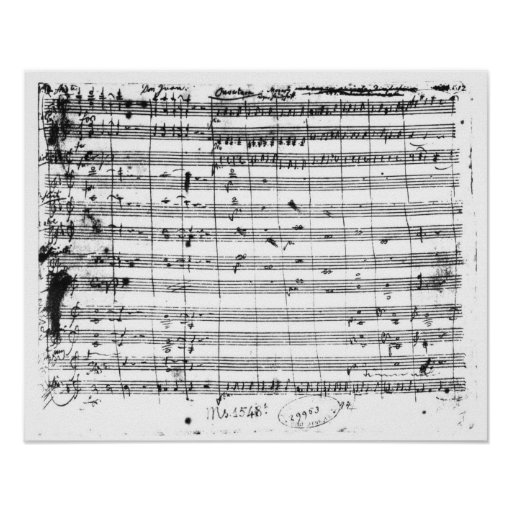 Ms.1548  Ouverture of the opera 'Don Giovanni' Print