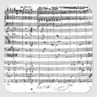 Ms.1548  Ouverture of the opera 'Don Giovanni' Square Sticker