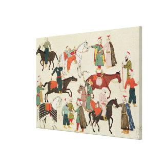 Ms 1671 A Horse Market, c.1580 Canvas Print