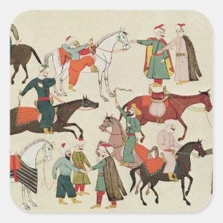 Ms 1671 A Horse Market, c.1580 Square Sticker