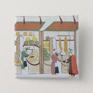 Ms.1671 Two Fruit Shops, c.1580 Pinback Button