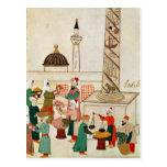 Ms 1671 un bazar en Estambul, c.1580 Postal