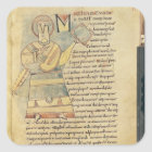 Ms 18 f.8 St. Matthew the Evangelist Square Sticker