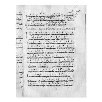 Ms 18 fol.69 Assumption from 'Troparium' Postcard