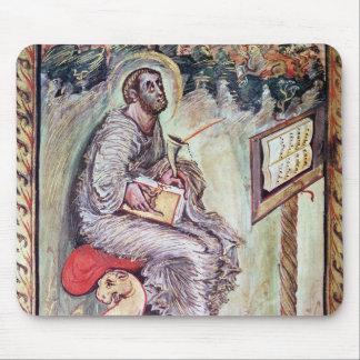 Ms 1 fol 90v St Luke de los evangelios de Ebbo Alfombrillas De Raton