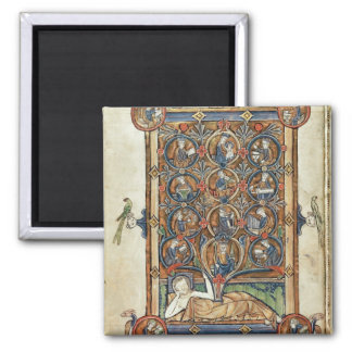 Ms 21926 The Tree of Jesse from a psalter Magnet