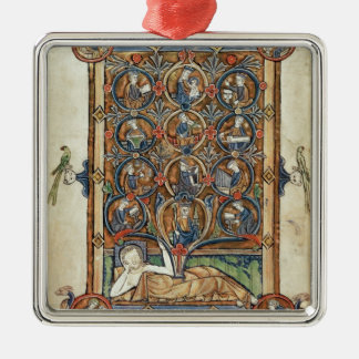 Ms 21926 The Tree of Jesse from a psalter Metal Ornament