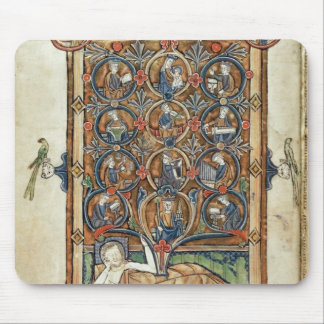 Ms 21926 The Tree of Jesse from a psalter Mouse Pad