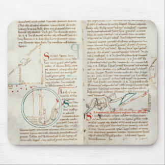 Ms 235 f.32 & 33 Geometry, from a 'Traite d'Astron Mouse Pad