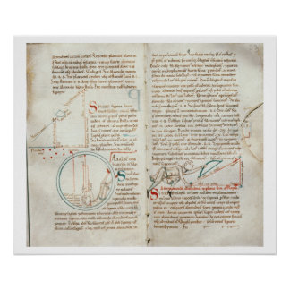 Ms 235 f.32 & 33 Geometry, from a 'Traite d'Astron Posters