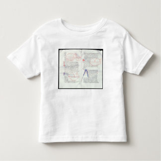 Ms 237 f.47-48 Musical intervals from Boetius's Mu Toddler T-shirt