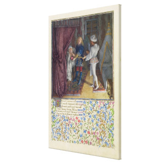 Ms. 2597 King Rene dreams: The God of Love steals Canvas Print