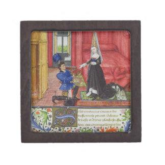 Ms 2617 el escribano que dedica el La Teseida a un Cajas De Joyas De Calidad
