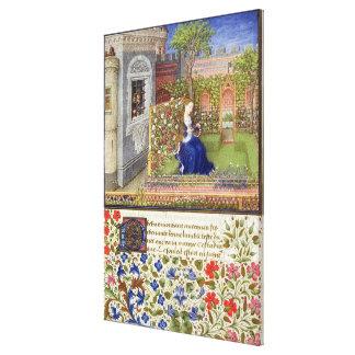 Ms 2617 Emilia en su jardín, placa 22 Lona Envuelta Para Galerías