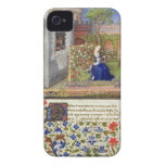 Ms 2617 Emilia in her garden, Plate 22, from 'La T iPhone 4 Cases