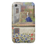 Ms 2617 Emilia in her garden, Plate 22, from 'La T iPhone 3 Case