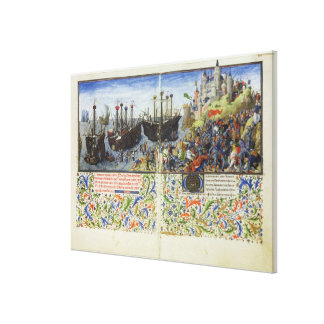 Ms 2617 The castle of the Amazons is besieged by T Canvas Print