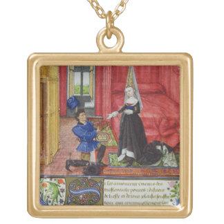 Ms 2617 The scribe dedicating La Teseida to an unk Custom Jewelry