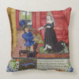 Ms 2617 The scribe dedicating La Teseida to an unk Pillows