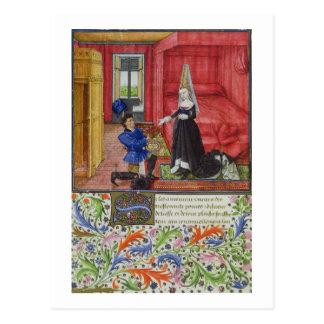 Ms 2617 The scribe dedicating La Teseida to an unk Postcard