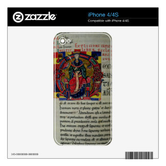 Ms 2 fol.8 Historiated initial 'O' depicting a fig Decal For iPhone 4