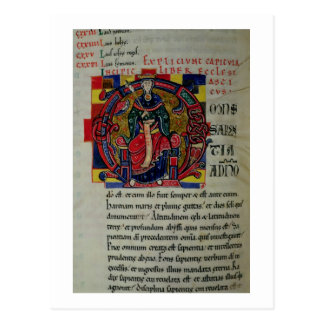 Ms 2 fol.8 Historiated initial 'O' depicting a fig Postcard