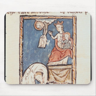 Ms 3516 f.127 The Juggler of Notre Dame Mouse Pads