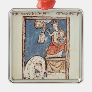 Ms 3516 f.127 The Juggler of Notre Dame Christmas Tree Ornaments