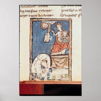Ms 3516 f.127 The Juggler of Notre Dame Print